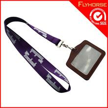 Custom Design Leather ID Card Holder Lanyards