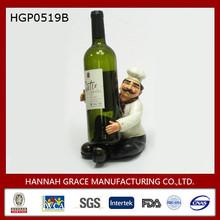 Sitting Chef Resin Wine Bottle Holder
