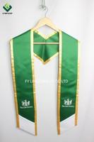 Customized Graduation Stoles In Green Satin