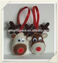2015 felt Raindeer Rudolph Ornament Red Nosed Decoration.Felt Raindeer made in China