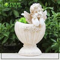 Artificial Modern Resin Angel Outdoor Flower Planter