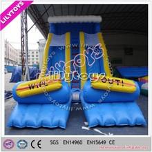 Used PVC high quality inflatable double lane slip slide, amusement park