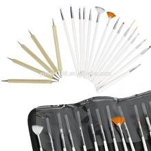 Yimart 20pcs Nail Art Designing Painting Detailing Brushes & Dotting Pen/Dotter Bundle Tool Set
