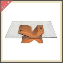 Most popular living room furniture wooden leg coffee table CT013A