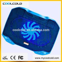 portable adjustable two cooling fans laptop cooler pad, 5v usb blue 13 laptop cooler pad