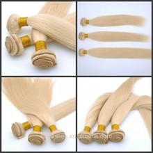 Wholesale Soft Silky Straight 100% Vigin Unprocessed Remy Brazilian Honey Blonde Hair weft Extension
