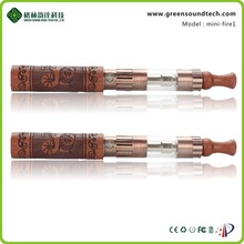 Mini fire 1 electronic vapor cigarette Wood kit 510/ego thread wooden titan 1 vaporizer