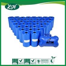 wholesale En13432 certified Cornstarch made biodegradable dog poop bag