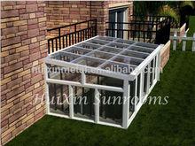 gold supplier china garden patio aluminium frame Sun room for sale