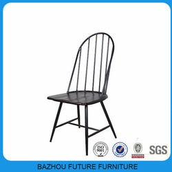 modern metal wooden chairs for coffee shops