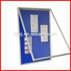 School Lockable Poster cabinet
