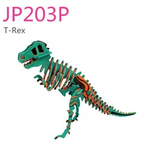DIY painting puzzle with pigment -- T-rex