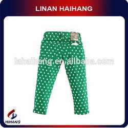 China hot sell polk dots thick types of girls pant