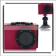 """HD1080P-F35 2.0"""" TFT LCD Wide Angle 4X Digital Zoom Mini Waterproof Action Sports Camera Rose Red"""