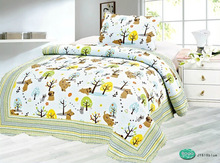 Hot Sale 100% Cotton high quality printed 2pcs home textile children bed quilt