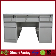 office furniture steel office desk with lock drawers