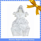 Embroidered lovely white baby communion dresses
