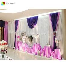 fabric for photo wedding backdrop decoration stage backdrop decoration stage background decor kits purple curtains drapes