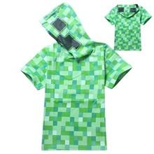 YSX 8837 Mineraft Creeper boy large -size hoodie T-shirt