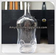 Wholesale transparent liquor drinking 1.5l glass bottle