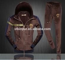 winter Sport Suit Sportwear 2014 New Men Fashion top brand Tracksuits College men Set velvet materials