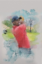 Unframed decoration golf painting from professional hand painted oil painting