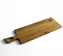 silm shape OAK wooden cutting board