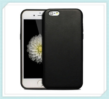 double sheep skin leather case for iphone 6 plus/double cell phone case for iphone 6