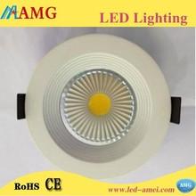 China led light round cob downlight high lightness 12 watt led downlight