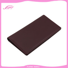 Pure color genuine leather office ladies long square wallet/lady classical purse