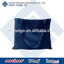 cheap reusable custom blank canvas leather shoulder bag