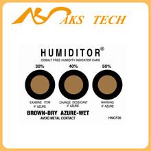 different range ranges 10%-90% humidity indicator card