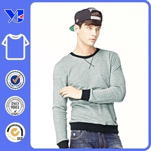 fashionable casual woollen gray and black young men t-shirt