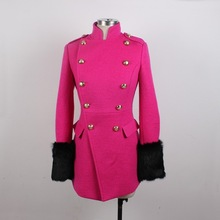 Garment factory oem wholesale fashion winter women woolen coat