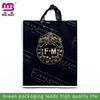 innovative printing square bottom plastic bag with soft loop handle