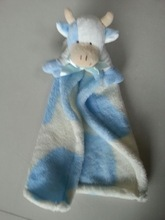 Hot Sales Baby 100% Cotton Security Blanket with Plush Toy