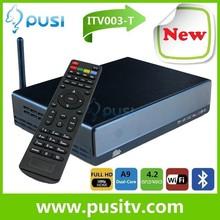 Newest DVB-T2 android tv box Dual Core AMLogic8726-MX 1.5GHz Android 4.2.2 1G 4G WiFi Bluetooth HD DVBT