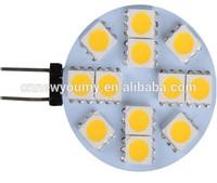 G4 White 5050 SMD 12 LED Light Home Car RV Marine Boat Lamp Bulb DC 12V