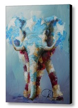 2015 modern elephants oil paintings on the wall artist painting