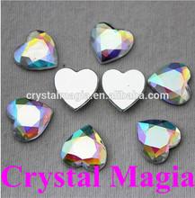 heart crystal ab flat back sew on acrylic stones