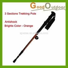 W05-C11 Orange Alu. 6061 three Sections Adjustable Trekking Pole
