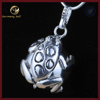 H32-20 Tai Silver Frog Animal harmony chime ball pendant,ON SALE