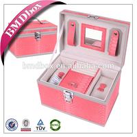 wedding gift hand mirror designer jewelry stand up case with lock