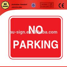 No parking car park signs