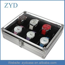 Wholesale Jewelry 12 Grid Slots Aluminum Watch Case Type and Watches Display Storage Box ZYD-HZMwb007