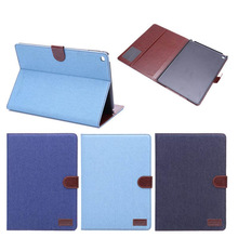 Jeans Pattern Stand Magnetic PU Leather case for ipad 6 new Smart cover Smart cover for apple ipad air 2