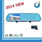 4.3 Inch TFT Car Rearview Mirror Dual Camera Front Rear DVR