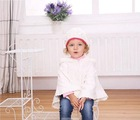 MOM AND BAB infant baby clothing, kids girls hoody knitted cloak, baby clothes winter