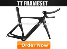 chinese Oem hidden braks design full carbon tt frame set triathlon bicycle carbon