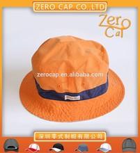 orange cotton Plain Design Fashion china supplier Bucket Hats